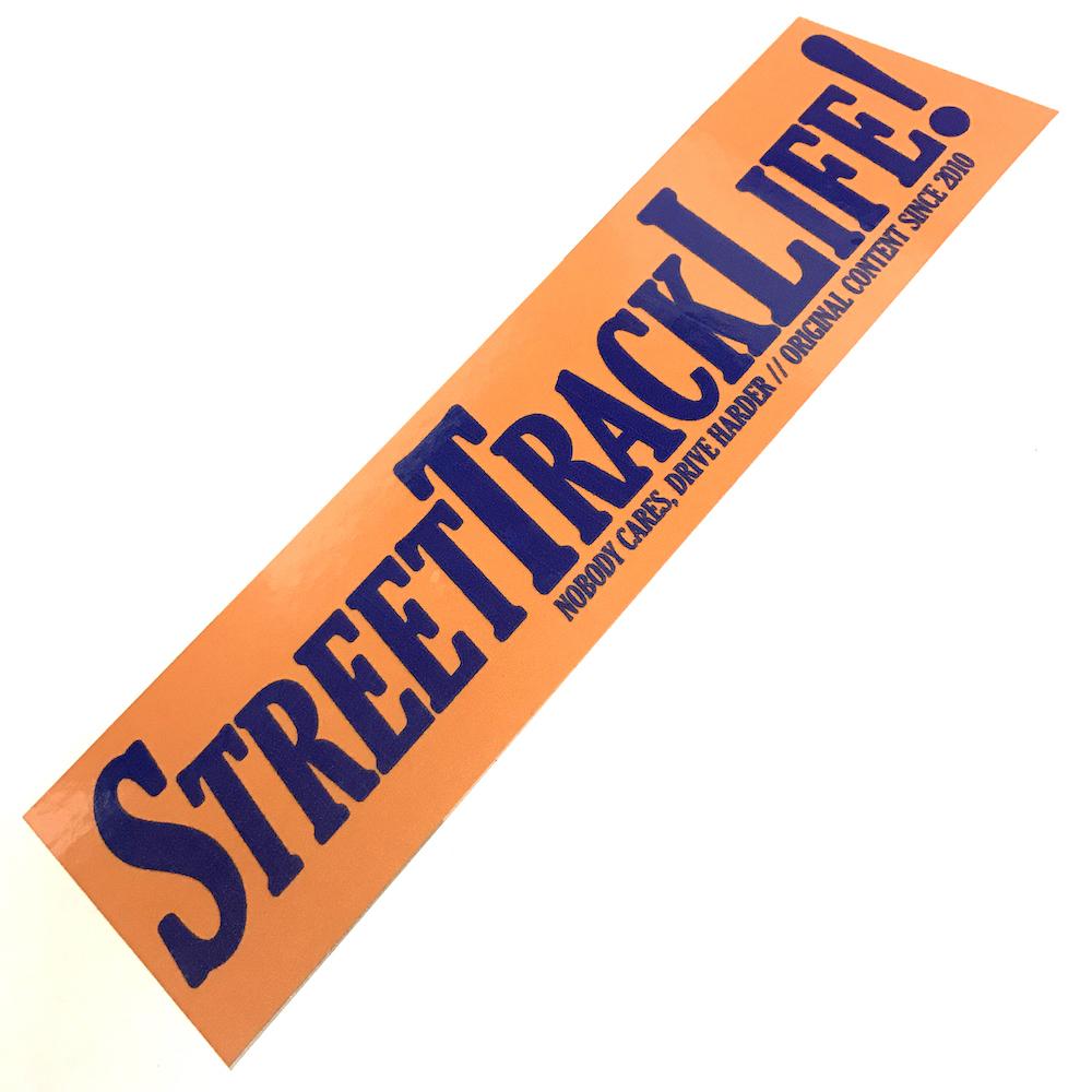 STREET TRACK LIFE 2018 STICKER