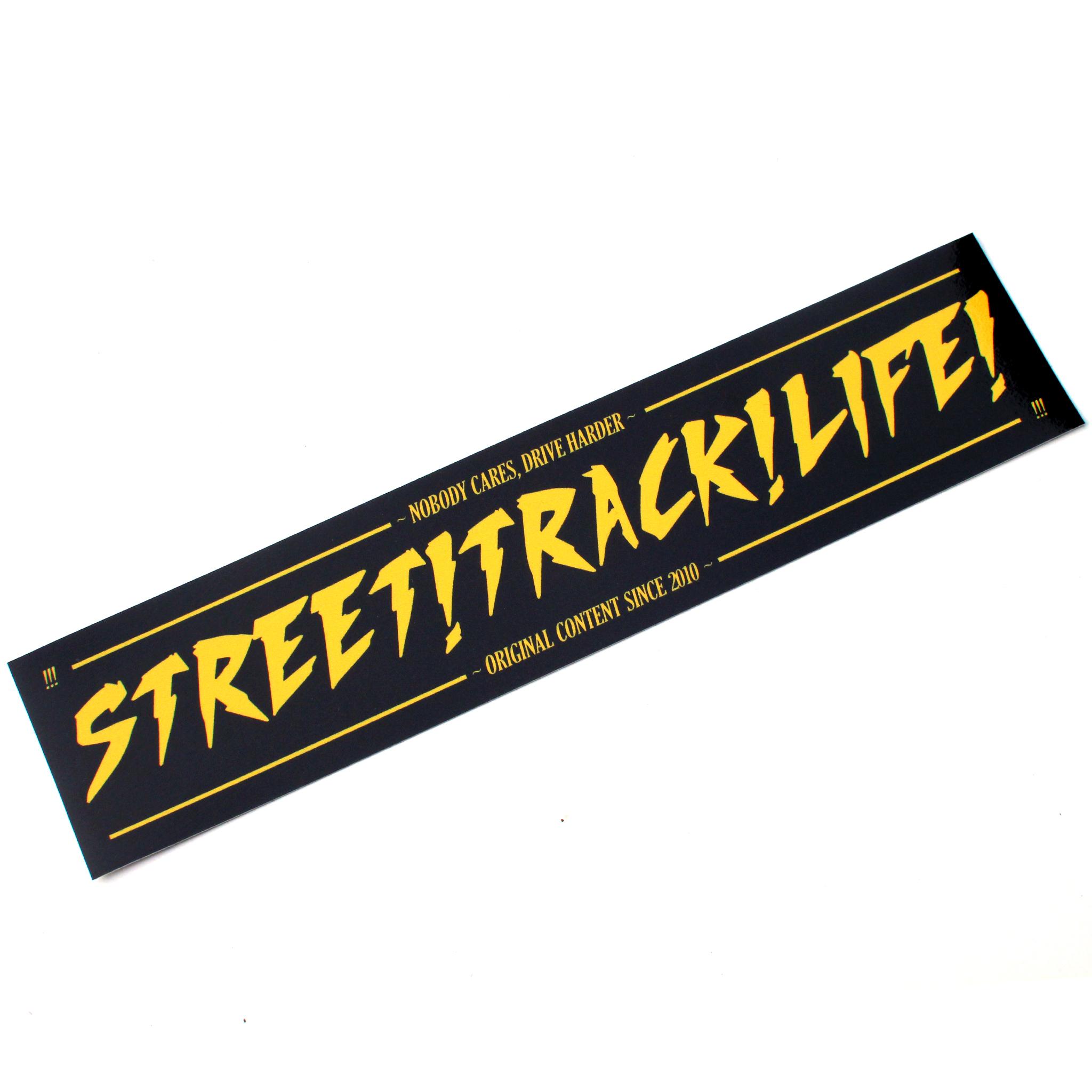 STREET TRACK LIFE STICKER